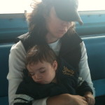 Liam and Me Sleeping on Boat