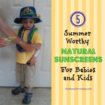 Putting Baby Ganics Chemical Free Sunscreen on my son before he goes outside to play!