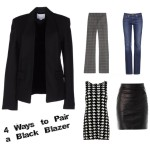 4 ways to pair a black blazer