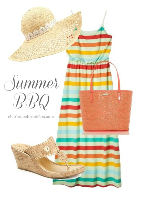 barbecue outfit idea memorial day to the beach charlene